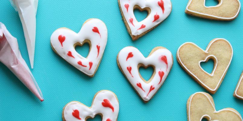 Lag hjerteformede cookies