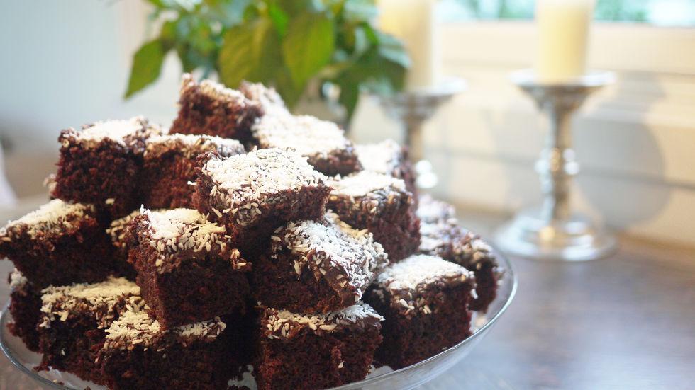 Verdens beste sjokoladekake i langpanne