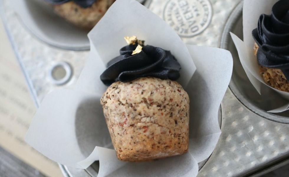 Mandelcupcakes med salt lakris