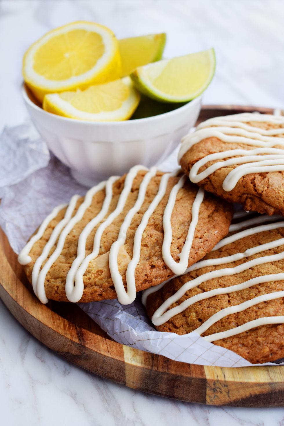Seige cookies med hvit sjokolade og sitron