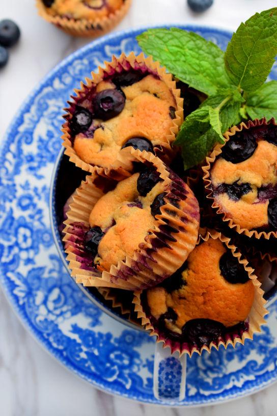 Sukkerfrie Blåbærmuffins Bakelyst 3