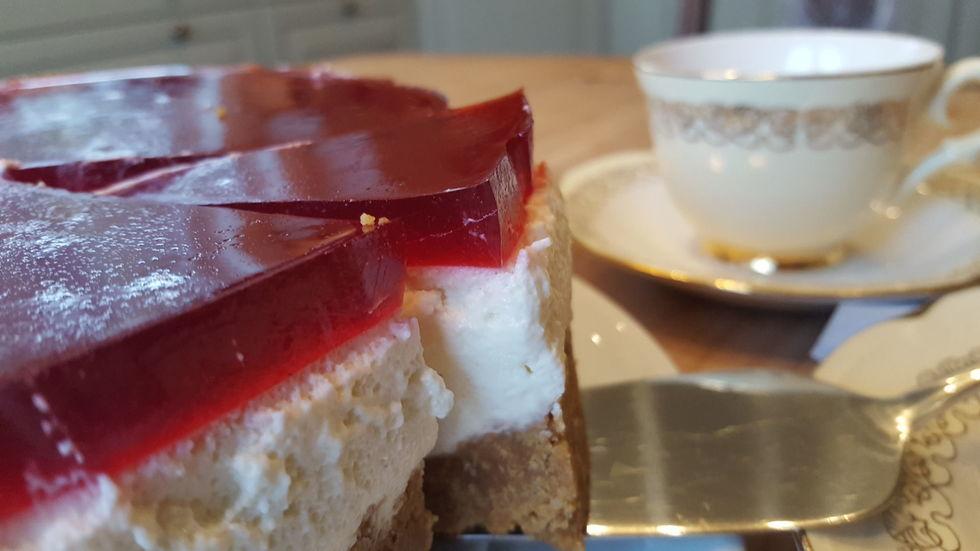 Melkefri ostekake uten gluten