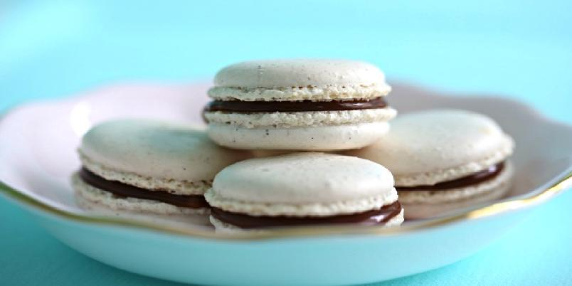 Makroner med vanilje og salt karamell