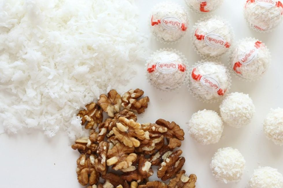 Kokos- og valnøttmarengs