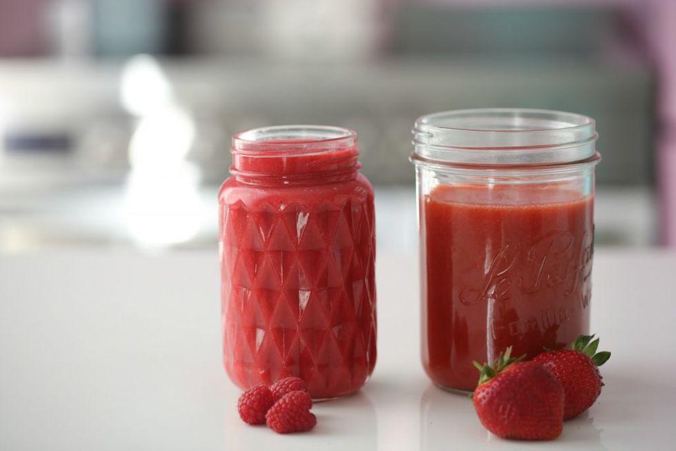 Bringebær- og jordbærsaus