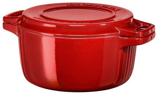 Forbered dine favorittretter med KitchenAid Casserole støpejernsgryte som kan brukes på alle stekeplater eller stekeovner.