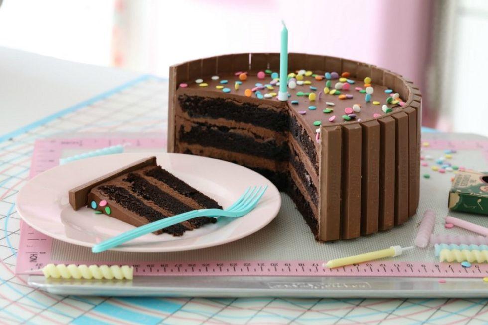 Kit-Kat-sjokoladekake