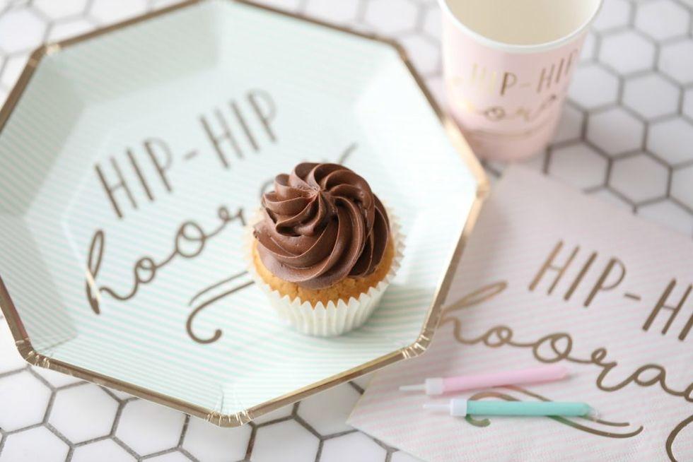 Cupcakes med iskrem i stedet for fløte