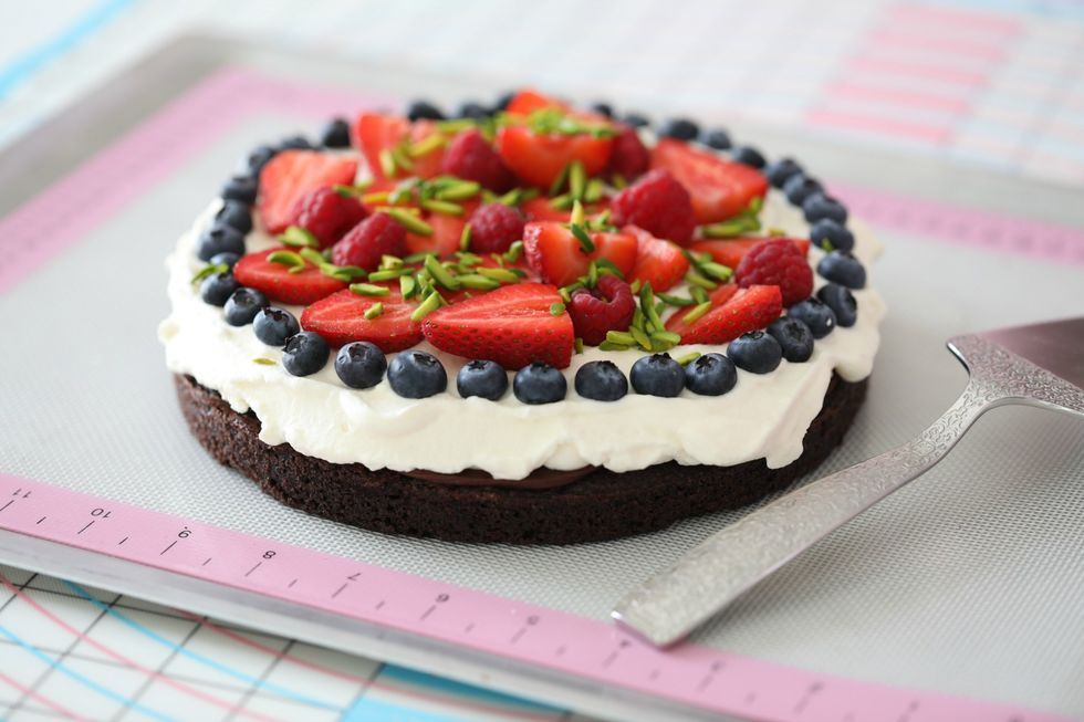 Dobbel fudge sjokoladekake